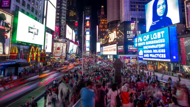 stockvideo's en b-roll-footage met times square - 4k time-lapse - advertentie