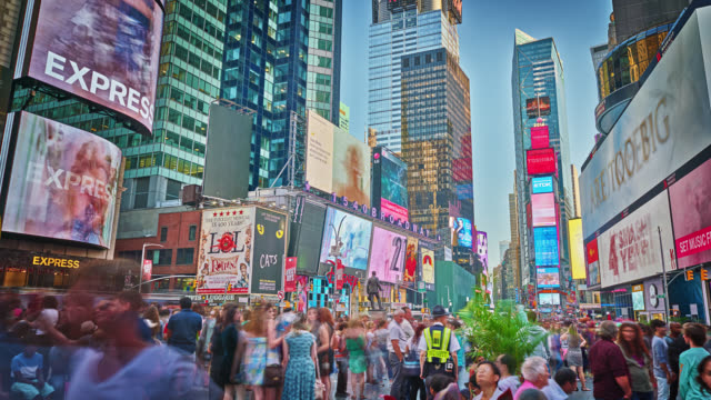 Times Square at day in NY video