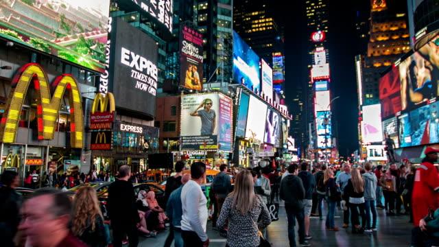 Times Square. menschenmenge – Video