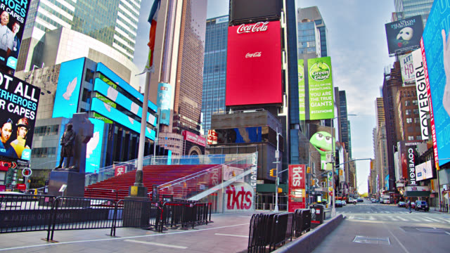 Times Square Empty During COVID-19. Awaiting Tourists