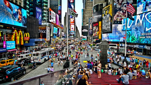 Times Square in the afternoon, NYC, US video