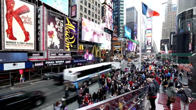 hd : タイムズスクエアニューヨーク市 - ブランディング点の映像素材/bロール