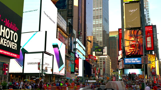 Times Square traffic at daytime video