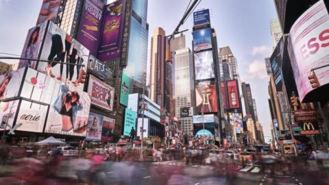 Times Square CItyscape usa stock videos & royalty-free footage