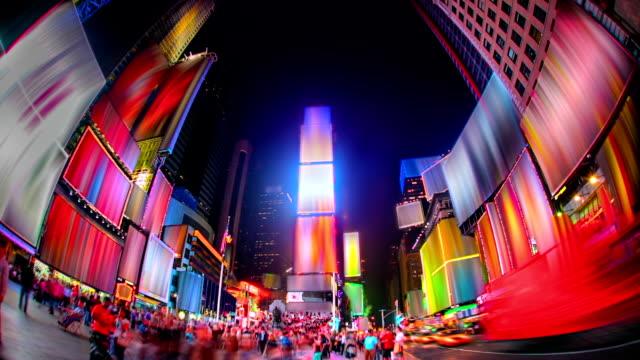таймс-сквер. - коммерческий знак стоковые видео и кадры b-roll