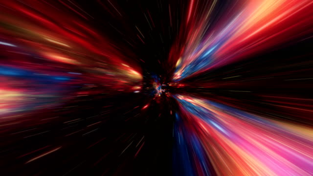 Time-space vortex tunnel loop animation video