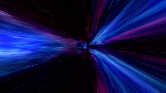 vídeos de stock e filmes b-roll de time-space vortex tunnel loop animation - imagem manipulada