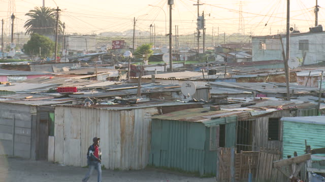 tin shacks in south africa video