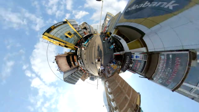 Tiny Little Planet and Hyper Lapse at Istanbul Kadikoy 360 Degree Tiny Little Planet and Hyper Lapse at The Istanbul Kadikoy 360 Degree turkey middle east stock videos & royalty-free footage