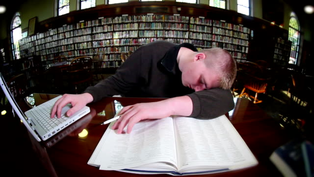 Tired Student video