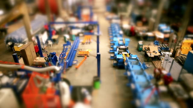 Title  Time lapse manufacturing staff in production factory video
