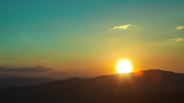 Titles Background Sunset Timelapse With Huge Sun Stock Video