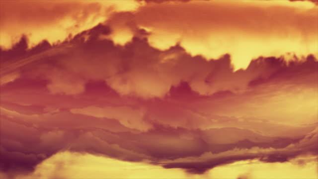 Titel. Electric tornado animierten Hintergrund. Sonnenuntergang Farben. Schleife. – Video
