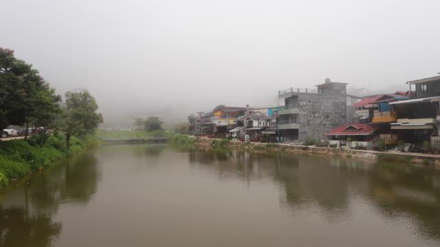 TL:Beautiful view of Lake Side Village Pillock, Thong Pah Plum District video