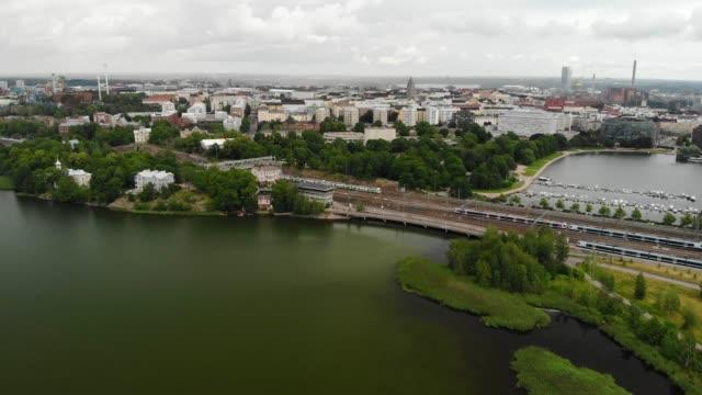 tölöviken i helsingfors, finland - drone helsinki bildbanksvideor och videomaterial från bakom kulisserna