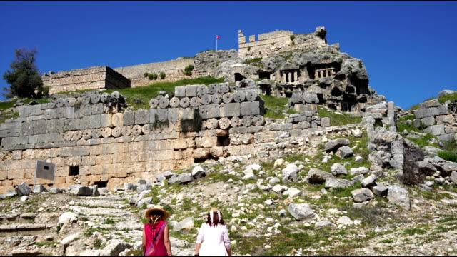 Tlos ancient city from Fethiye. Mugla / Turkey video