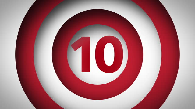 1 to 10 Count - 3D Motion Graphic (Red/White)