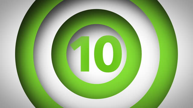 1 to 10 Count - 3D Motion Graphic (Green/White)