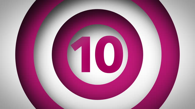 1 to 10 Count - 3D Motion Graphic (Pink/White)
