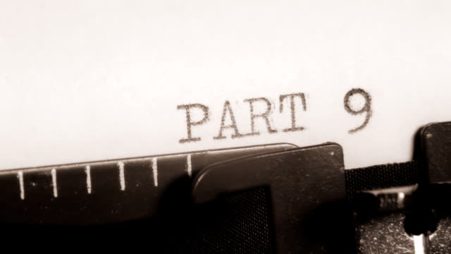 PART 9 to 10. Typewriting. Section of the book. video