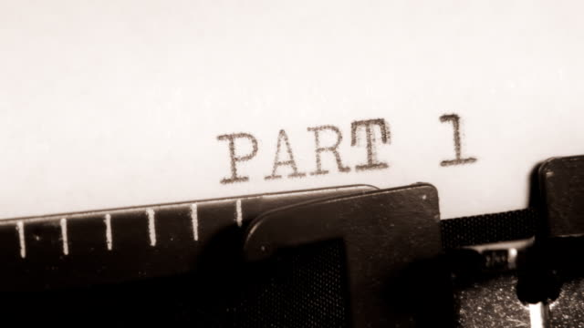 PART 1 to 4. Section of the book. Typewriting. video