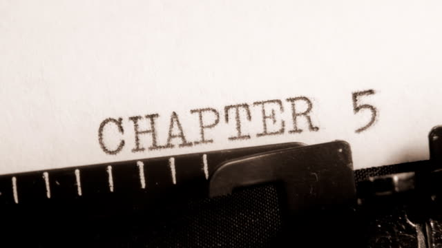 CHAPTER 5 to 8. Writing of the book on typewriter. video