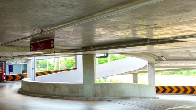 4K/UHD to HD Time-lapse : Time Lapse of a Car Parking Entry. video