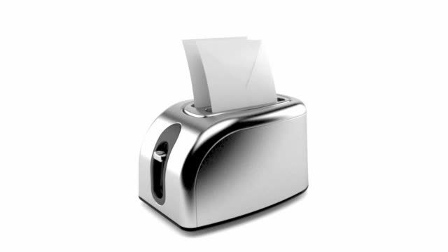 Toaster with envelopes video