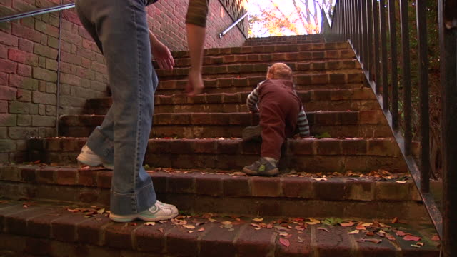 Toddler Climbing Steps video