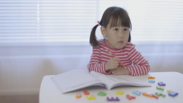 toddler girl practice writing  alphabet for homeschooling video