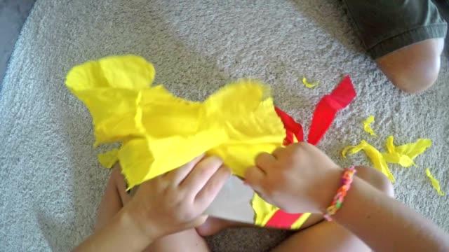 POV Toddler opening a birthday present video