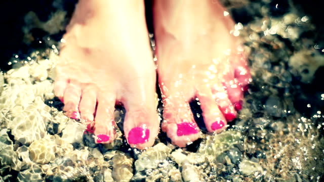 HD: Toenails In Shallow Water video