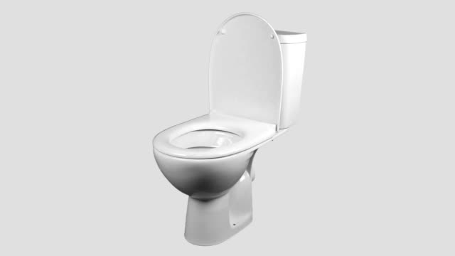 Toilet Bowl spinning isolated video