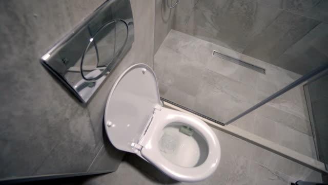 Toilet flush with rim block, air freshener