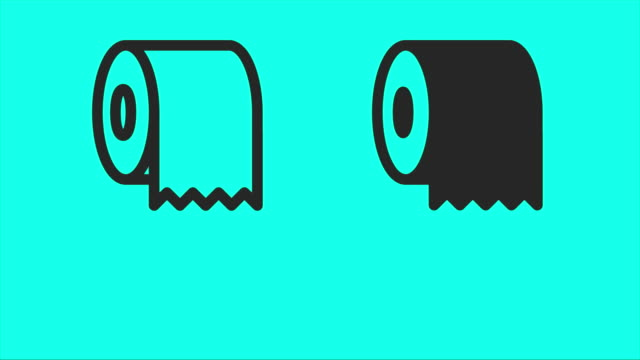 Toilet Paper Icons - Vector Animate