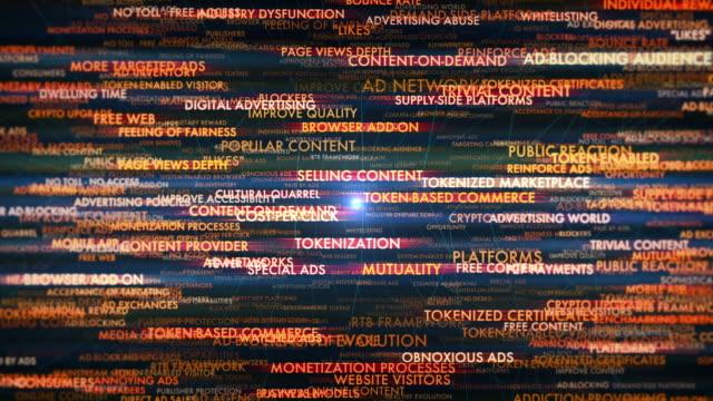 tokenization in advertising terms - digital marketing stock videos & royalty-free footage