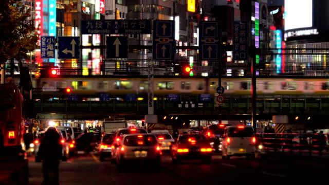 東京の夕暮れ  - 列車点の映像素材/bロール
