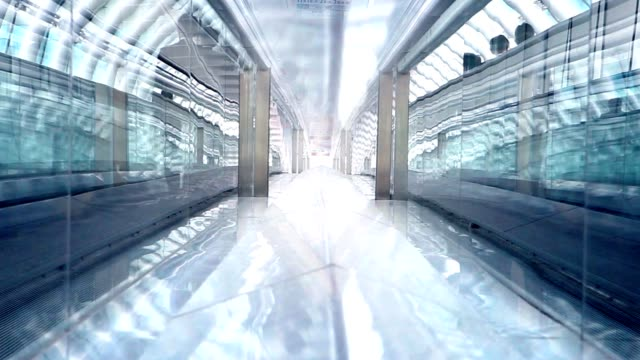 business di tokyo tunnel in vetro time-lapse - escalator video stock e b–roll