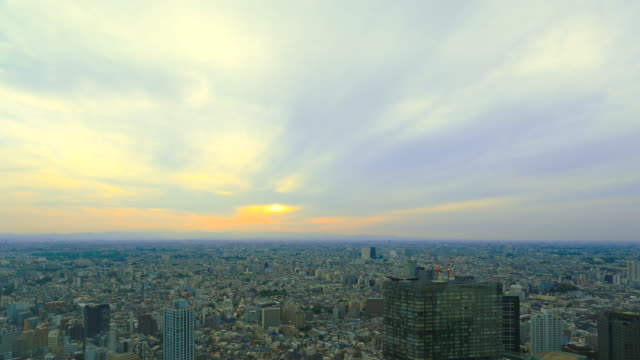 東京シティ - 日没点の映像素材/bロール