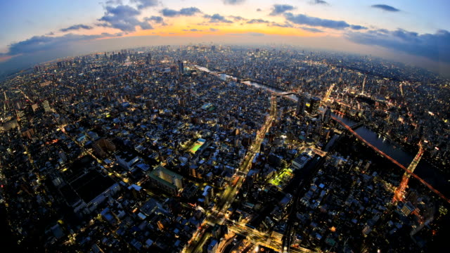 stockvideo's en b-roll-footage met tokyo cityscape time lapse - japan