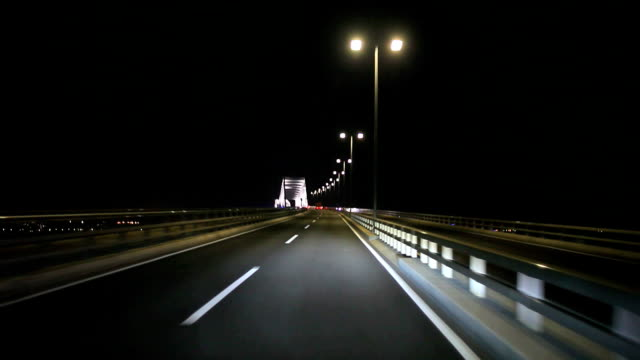 Tokyo gate bridge at night video