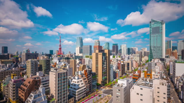 日本、東京の景観 - 屋根点の映像素材/bロール