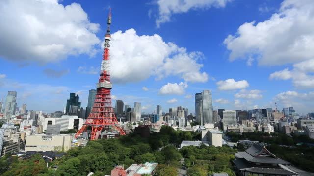 東京,日本 - 東京タワー点の映像素材/bロール