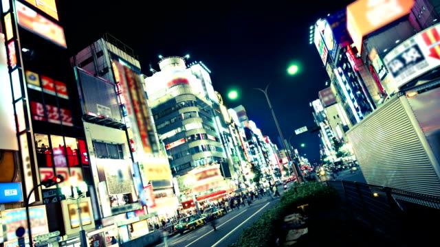 Tokyo Shinjuku Neon District timelapse video