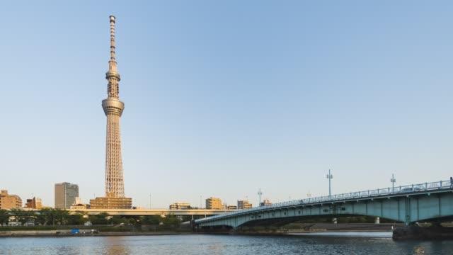 夜から夜まで東京スカイツリー(ティマラプス) ビデオ