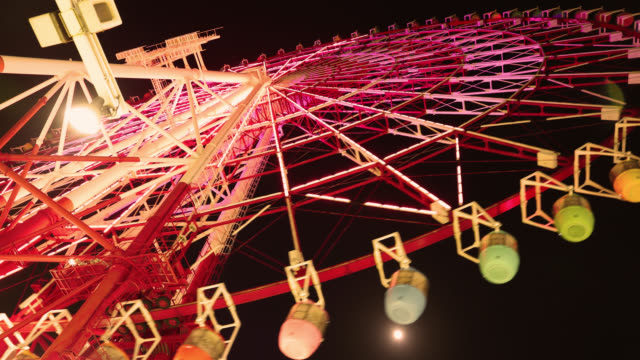 4K UHD Tokyo Time Lapse - Odaiba Ferris Wheel Daikanransha video