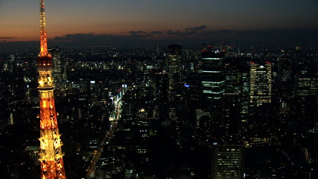 stockvideo's en b-roll-footage met tokyo tower, rond roppongi - tokio kanto