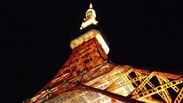 東京タワーナイトビュー - 東京タワー点の映像素材/bロール