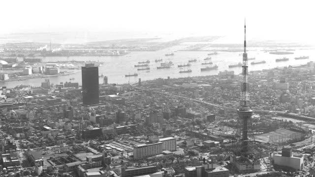 東京タワー / tokyo tower - 都市 モノクロ点の映像素材/bロール