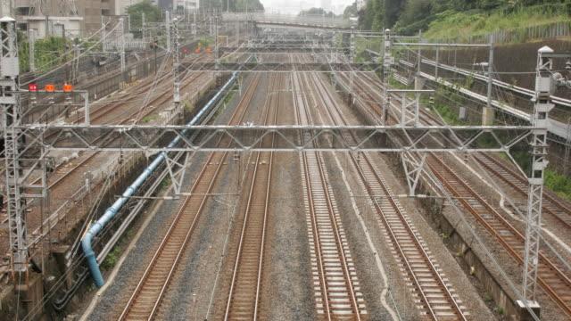 東京の電車 b 微速度撮影 hd - 列車点の映像素材/bロール